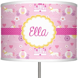 "Princess Carriage 13"" Drum Lamp Shade (Personalized)"