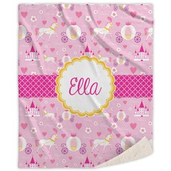 Princess Carriage Sherpa Throw Blanket (Personalized)