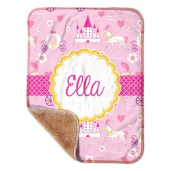"Princess Carriage Sherpa Baby Blanket 30"" x 40"" (Personalized)"