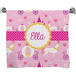 Princess Carriage Full Print Bath Towel (Personalized)