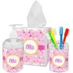 Princess Carriage Acrylic Bathroom Accessories Set w/ Name or Text