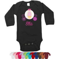 Princess Carriage Long Sleeves Bodysuit - 12 Colors (Personalized)