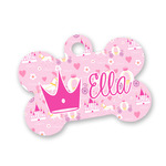 Princess Carriage Bone Shaped Dog Tag (Personalized)