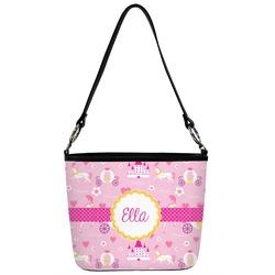 Princess Carriage Bucket Bag w/ Genuine Leather Trim (Personalized)