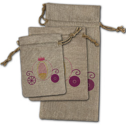 Princess Carriage Burlap Gift Bags (Personalized)