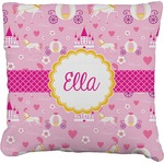 Princess Carriage Faux-Linen Throw Pillow (Personalized)