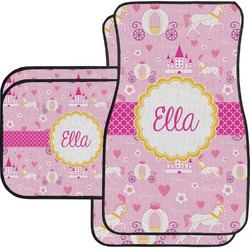 Princess Carriage Car Floor Mats Set - 2 Front & 2 Back (Personalized)