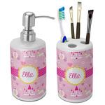 Princess Carriage Bathroom Accessories Set (Ceramic) (Personalized)