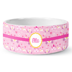 Princess Carriage Ceramic Pet Bowl (Personalized)