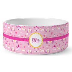 Princess Carriage Ceramic Dog Bowl (Personalized)