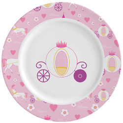 Princess Carriage Ceramic Dinner Plates (Set of 4) (Personalized)