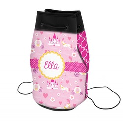 Princess Carriage Neoprene Drawstring Backpack (Personalized)
