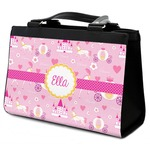 Princess Carriage Classic Tote Purse w/ Leather Trim (Personalized)
