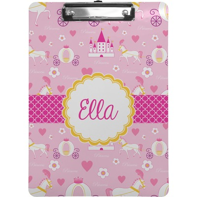 Princess Carriage Clipboard Letter Size Personalized