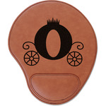 Princess Carriage Leatherette Mouse Pad with Wrist Support (Personalized)