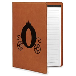 Princess Carriage Leatherette Portfolio with Notepad - Large - Single Sided (Personalized)
