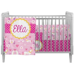 Princess Carriage Crib Comforter / Quilt (Personalized)