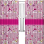 Princess Carriage Curtains (2 Panels Per Set) (Personalized)