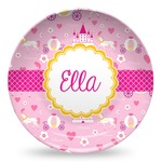 Princess Carriage Microwave Safe Plastic Plate - Composite Polymer (Personalized)