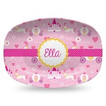 Princess Carriage Plastic Platter - Microwave & Oven Safe Composite Polymer (Personalized)