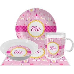 Princess Carriage Dinner Set - 4 Pc (Personalized)