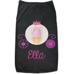Princess Carriage Black Pet Shirt (Personalized)