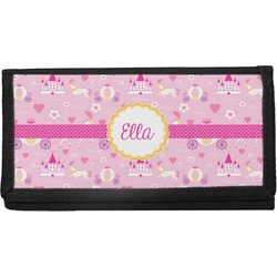 Princess Carriage Canvas Checkbook Cover (Personalized)