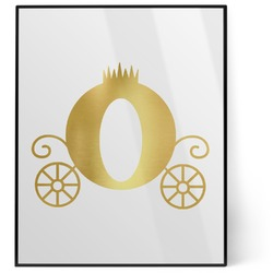 Princess Carriage 8x10 Foil Wall Art - White (Personalized)