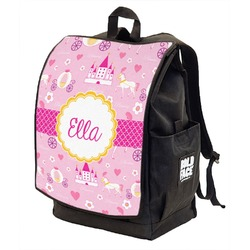 Princess Carriage Backpack w/ Front Flap  (Personalized)