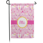 Princess Carriage Garden Flag - Single or Double Sided (Personalized)