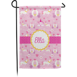 Princess Carriage Single Sided Garden Flag With Pole (Personalized)