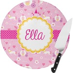 Princess Carriage Round Glass Cutting Board (Personalized)