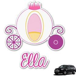 Princess Carriage Graphic Car Decal (Personalized)
