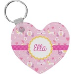 Princess Carriage Heart Keychain (Personalized)