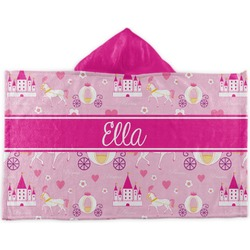 Princess Carriage Kids Hooded Towel (Personalized)