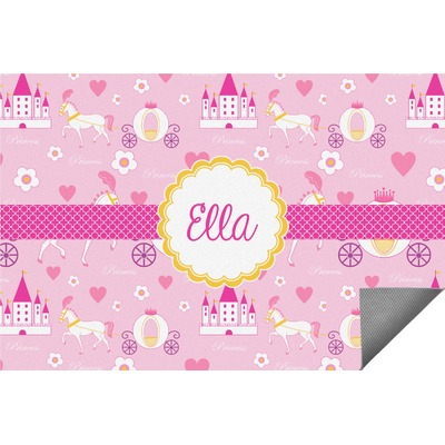Princess Carriage Indoor / Outdoor Rug - 5'x8' (Personalized)