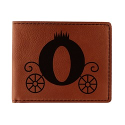 Princess Carriage Leatherette Bifold Wallet (Personalized)