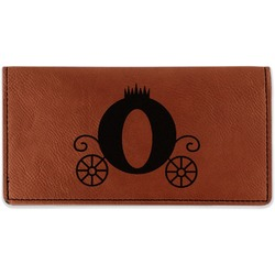 Princess Carriage Leatherette Checkbook Holder - Double Sided (Personalized)