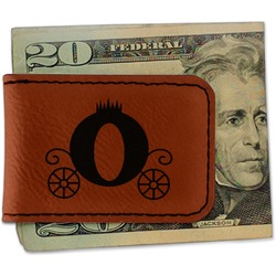 Princess Carriage Leatherette Magnetic Money Clip (Personalized)