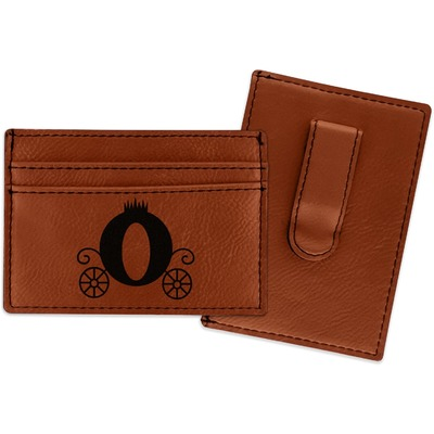 Princess Carriage Leatherette Wallet with Money Clip (Personalized)