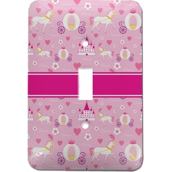 Princess Carriage Light Switch Cover (Single Toggle) (Personalized)