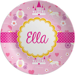 "Princess Carriage Melamine Plate - 8"" (Personalized)"