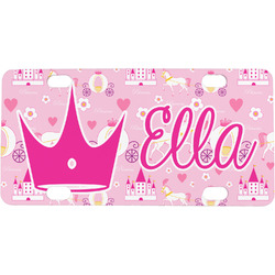 Princess Carriage Mini / Bicycle License Plate (4 Holes) (Personalized)