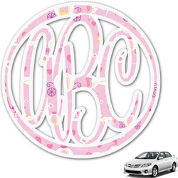 Princess Carriage Monogram Car Decal (Personalized)