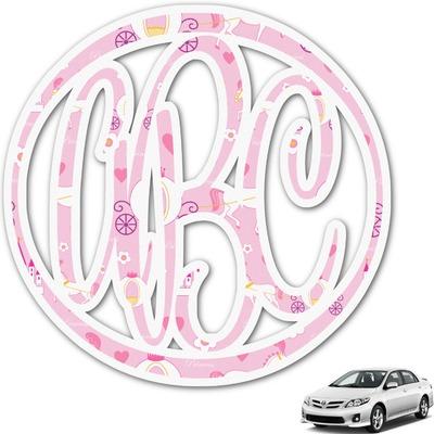Princess Carriage Monogram Car Decal (Personalized)