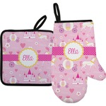 Princess Carriage Oven Mitt & Pot Holder (Personalized)
