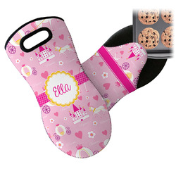 Princess Carriage Neoprene Oven Mitts w/ Name or Text