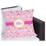 Princess Carriage Outdoor Pillow (Personalized)