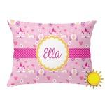 Princess Carriage Outdoor Throw Pillow (Rectangular) (Personalized)