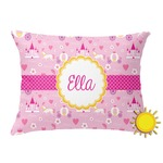 Princess Carriage Outdoor Throw Pillow (Rectangular) (Personalized)